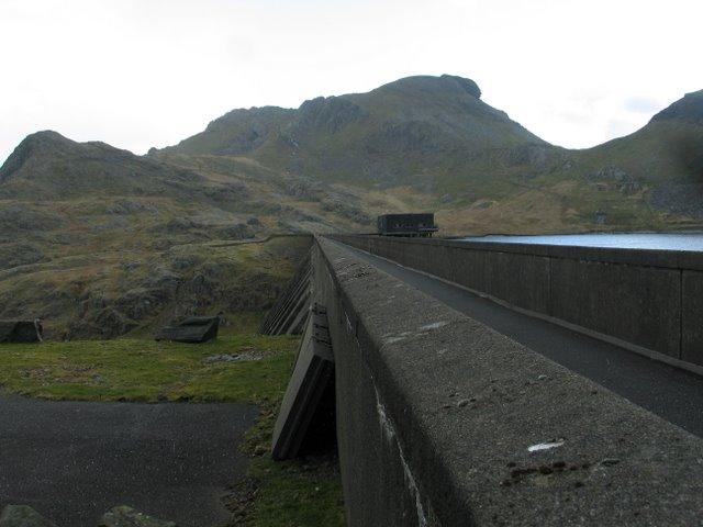 Looking across the Dam from NE