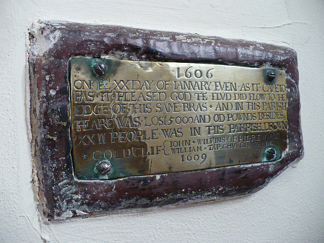 Flood plaque, Goldcliff Parish Church