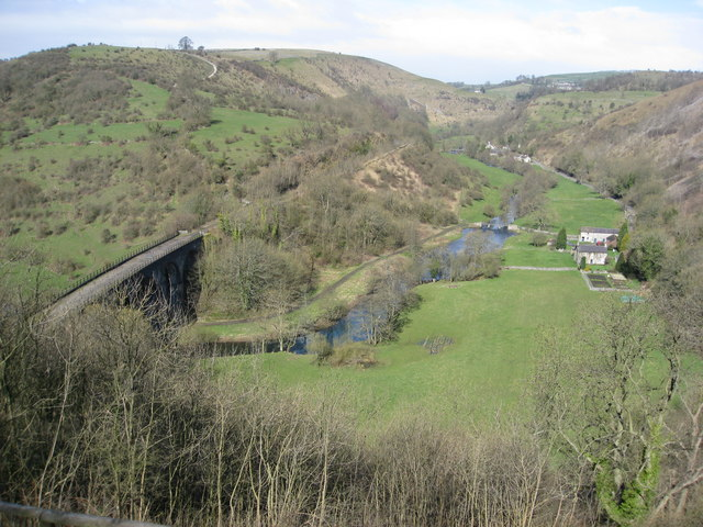 Monsal Head - View of the Viaduct and River Wye