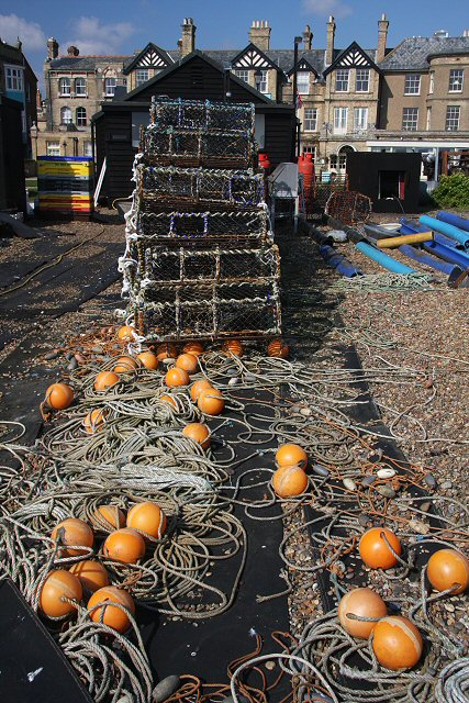Floats, ropes and lobster pots