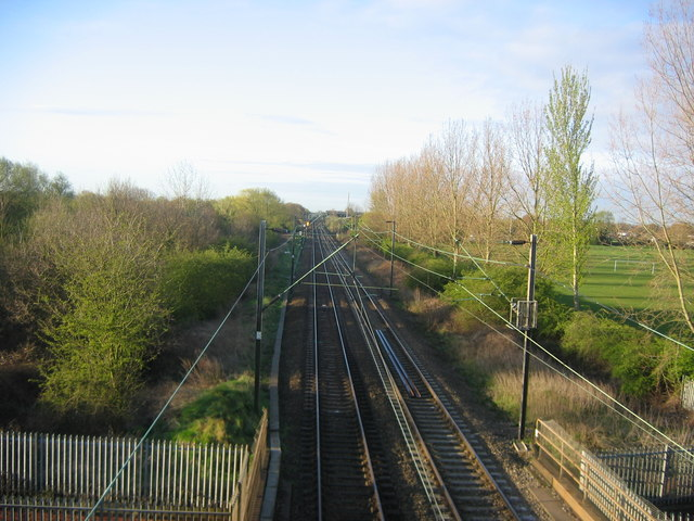 Railway line at Turnford Brook