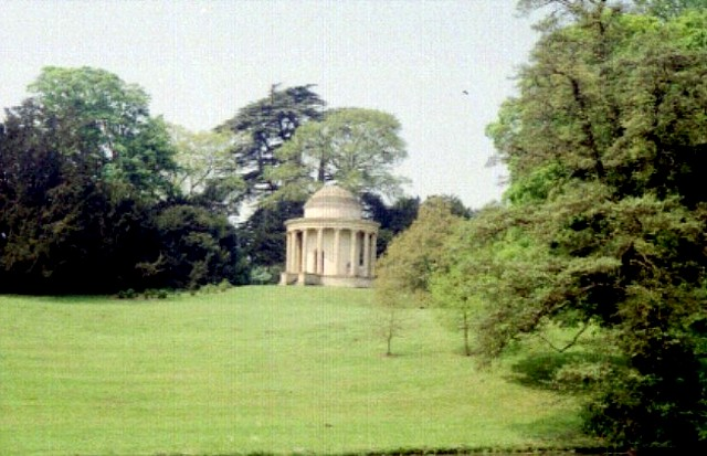 Temple of Ancient Virtues Stowe Gardens.