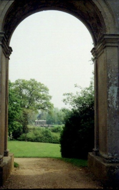 View through Doric Arch ,Stowe gardens.
