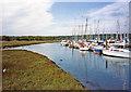 SU4806 : Hamble Point Marina, The Hamble, Hampshire by Christine Matthews