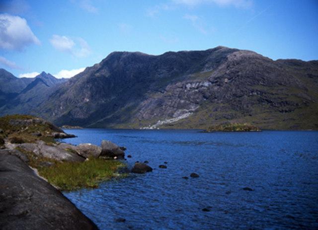 View towards Druim nan Ramh from Loch Coruisk