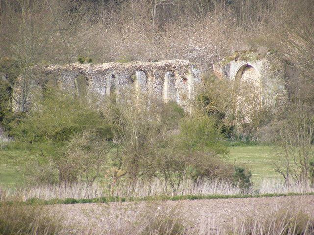 Remains of Sibton Abbey very close up