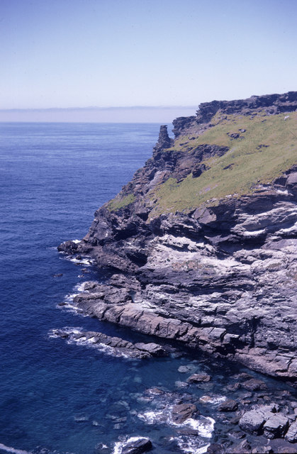 Looking towards Sea Stack, Tintagel Island, Cornwall taken 1967