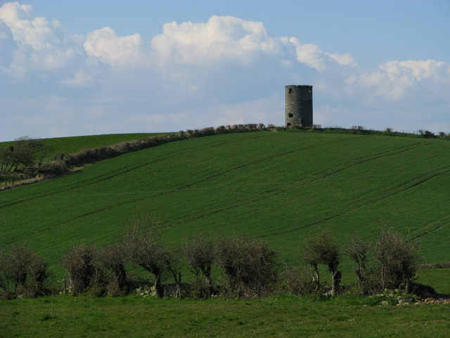 Ruined windmill near Greyabbey