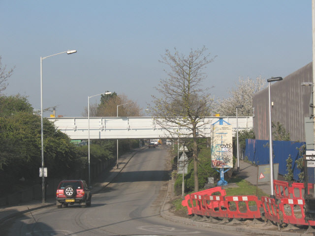 Overground new bridge, Surrey Canal Road