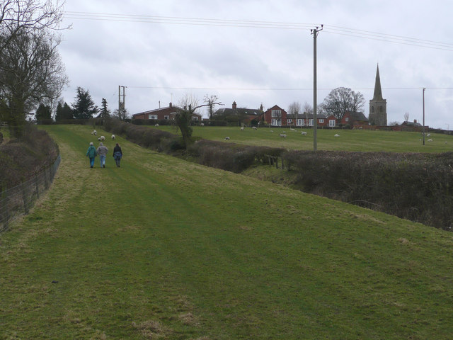 Theddingworth from the Green Lane