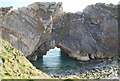 SY8279 : Sea Arch - Stair hole by Nigel Chadwick