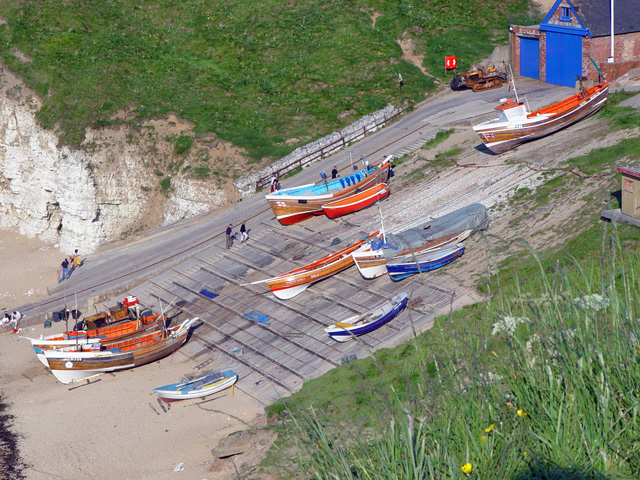 Boats at North Landing, Flamborough Head