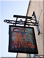 ST5874 : Cat and Wheel pub sign by ceridwen