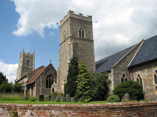 The churches of St Michael and St Mary