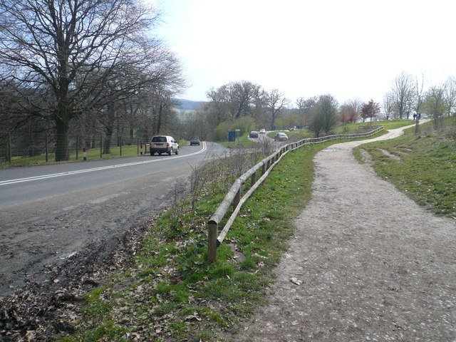 Entrance to Calton Lees Car Park from the B6012