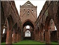 NX9666 : Inside Sweetheart Abbey by Debbie Turner