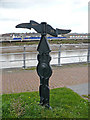 ST3188 : Cycle route milepost by Robin Drayton