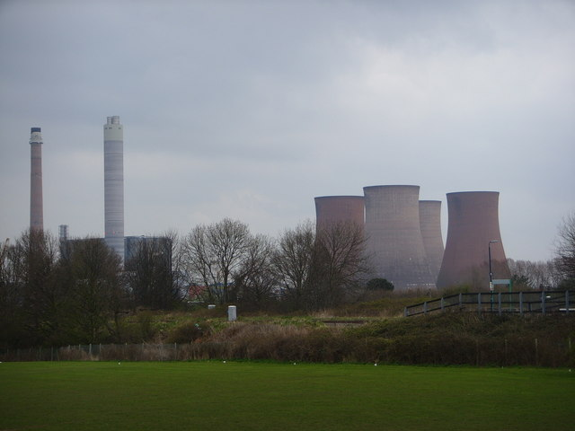 Lea Hall Playing Fields with Rugeley Power Station in the distance