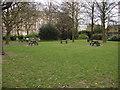 TQ2782 : Picnic area, St John's Wood Churchyard by Oxyman
