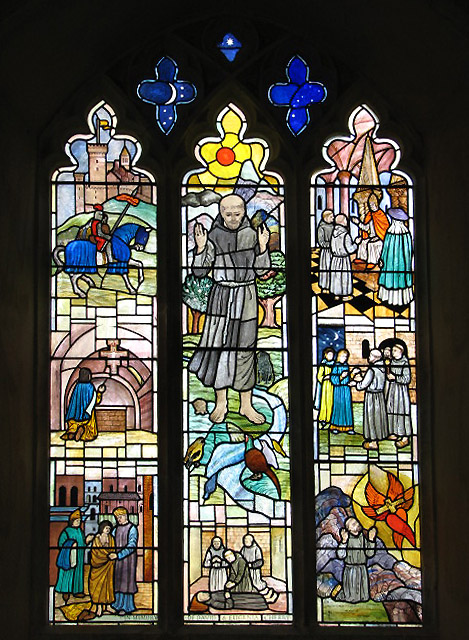 St Peter's church - modern stained glass