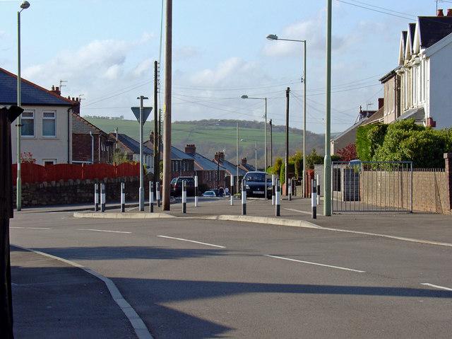 Street corner, Sarn, Ogmore Valley