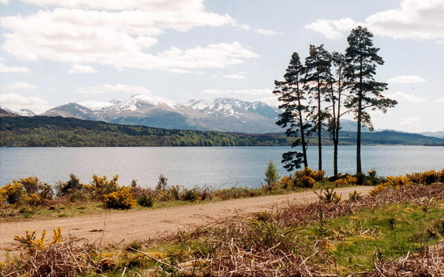Alongside Loch Lochy on The Great Glen Way