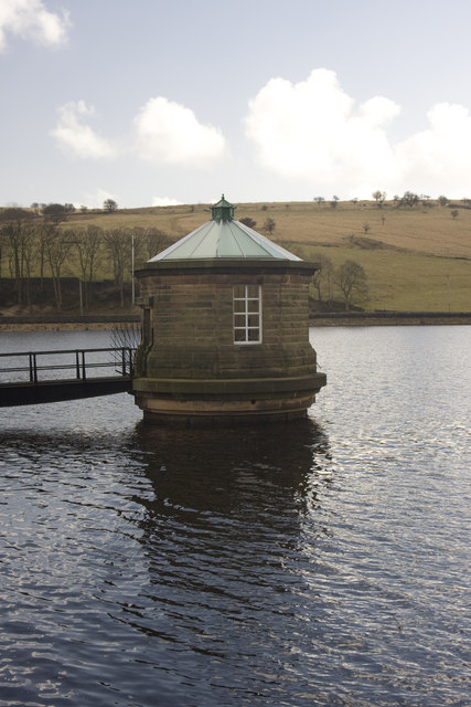 Water take-off tower (Sluice) Fernilee reservoir