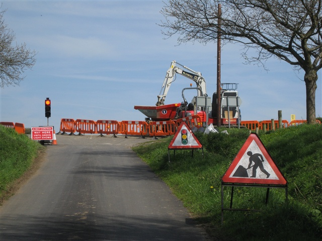 Roadworks at Crossroads