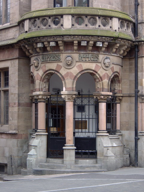 Watson Fothergill - Express Offices, Parliament Street. Main entrance