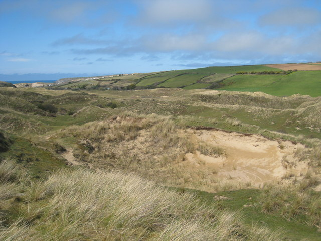 View towards Holywell from Penhale Sands