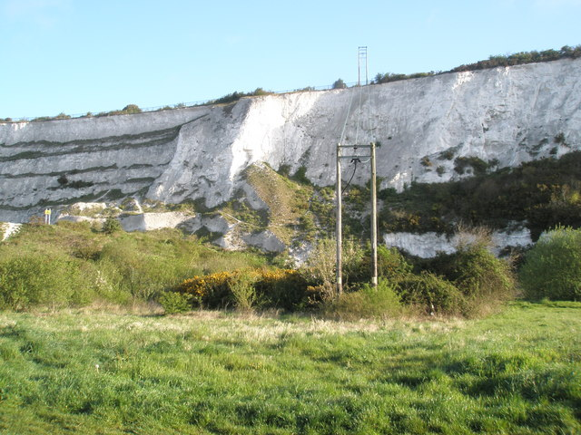 Telegraph wires within Paulsgrove Chalk Pits