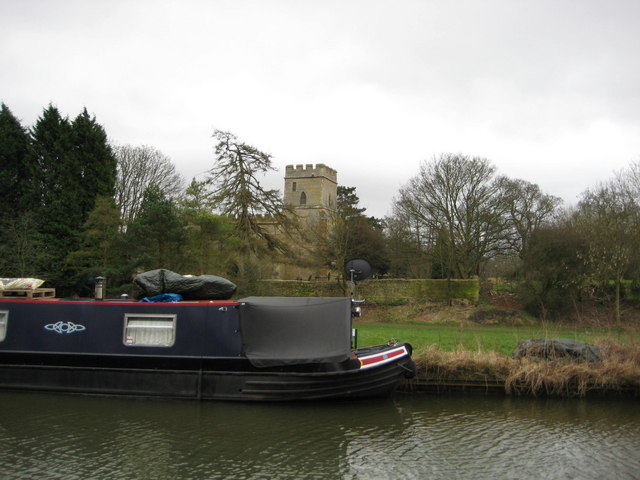 St Andrews Church from the Grand Union canal