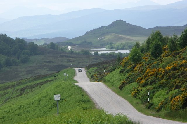General Wade's Military Road leading towards Loch Tarff