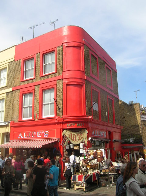 Alice's, Junction of Portobello Road and Denbigh Close, London W11