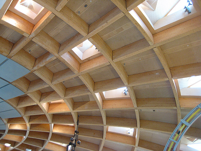 Wooden Roof Of The Core Eden Project 169 Pauline E Cc By