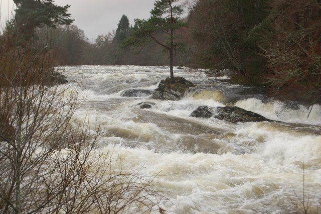 River Dochart in spate at Killin