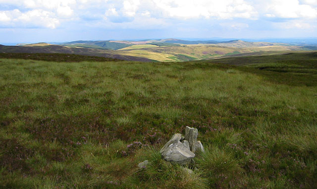 The summit cairn of Cefn Gwyntog