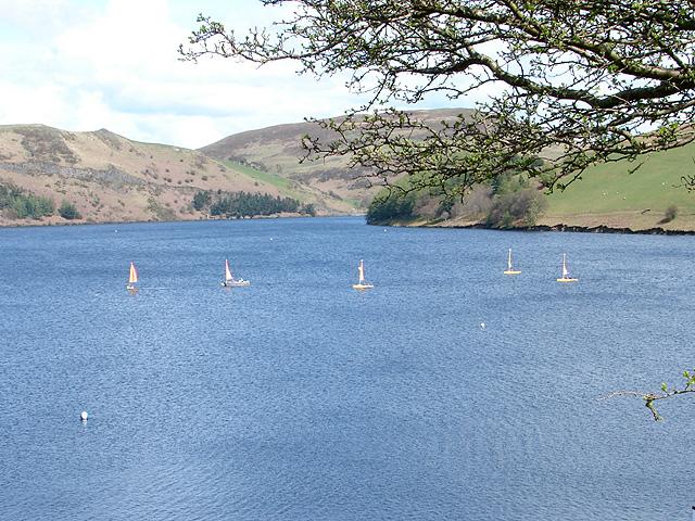 Sailing on Llyn Clywedog