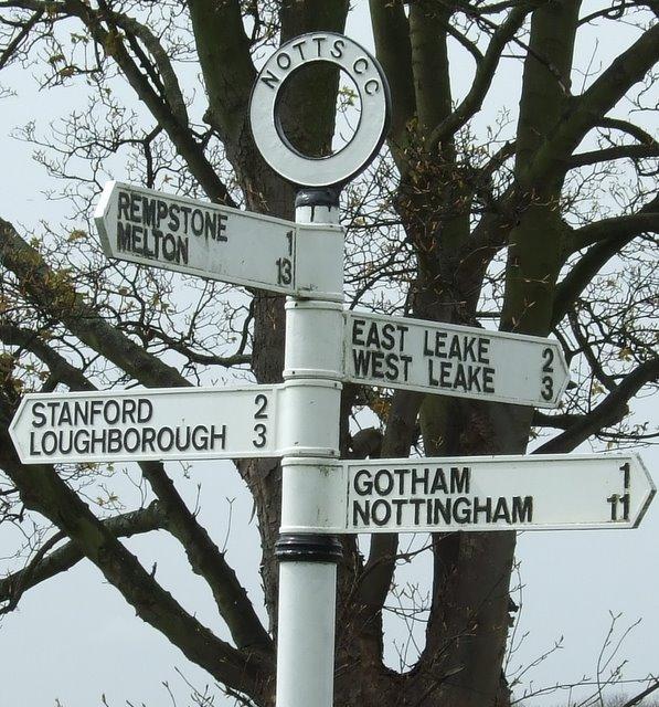 Fingerpost  Rempstone Road/Loughborough Road