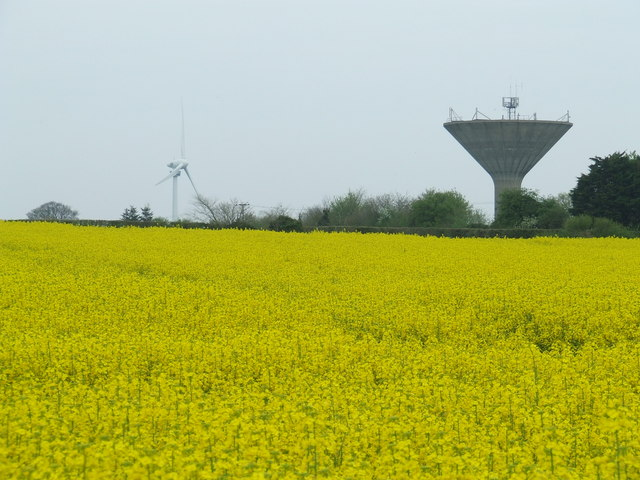 Water tower an wind turbine