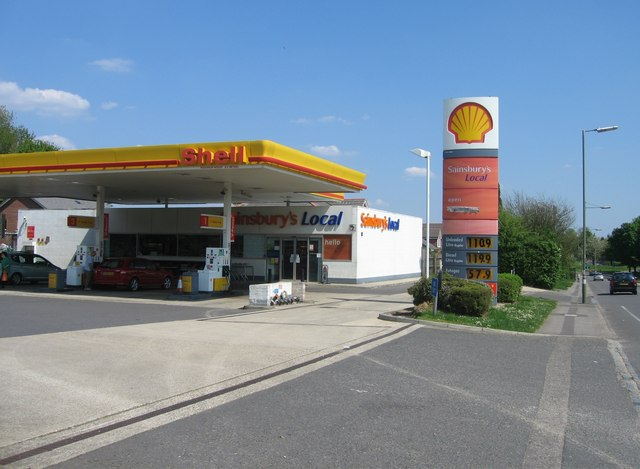 Shell garage sainsbury 39 s local given up cc by sa 2 0 geograph britain and ireland - Find nearest shell garage ...