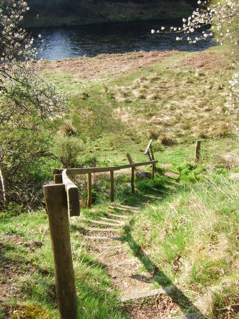 Steps down to the River Dee