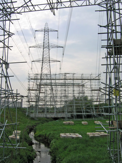 Scaffolding for transmission line