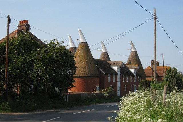 Oast House on Head Hill Road, Goodnestone, Kent