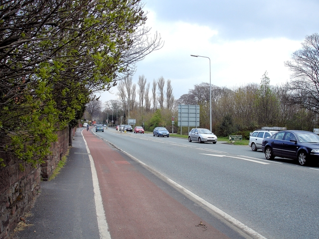 Great Boughton - the A41 (Whitchurch Road)