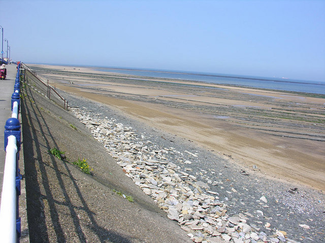 Beach at low water