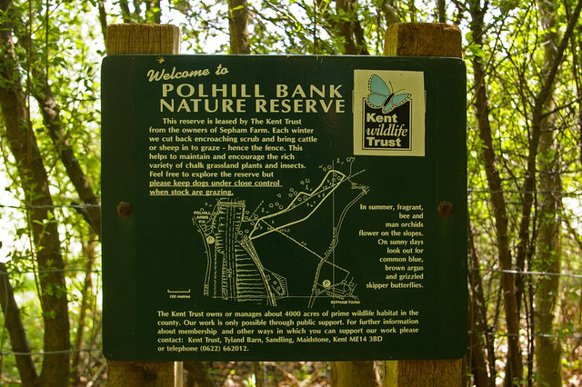 Polhill Bank Nature Reserve sign