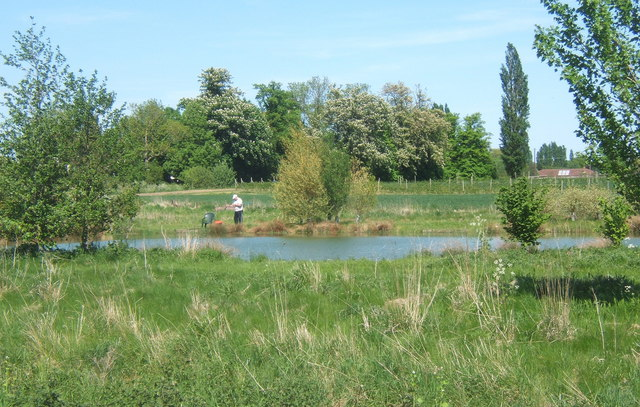 Fishing lake near akenham hall andrew hill geograph for Nearest fishing lake