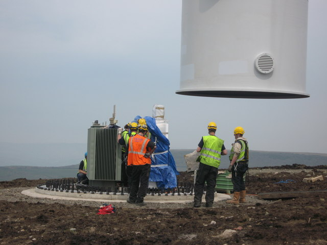 Turbine Tower No 24 Under Construction in May 2008