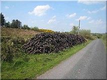 G7208 : Peat stack at Dernaskeagh by Oliver Dixon